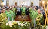 В Неделю ваий Патриарший экзарх всея Беларуси совершил Литургию в Свято-Духовом кафедральном соборе Минска