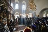 Проповедь Святейшего Патриарха Кирилла в Великий Вторник после Литургии в Высоко-Петровском ставропигиальном монастыре