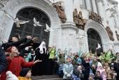 В Великую Субботу Святейший Патриарх Кирилл совершил Литургию в Храме Христа Спасителя в Москве