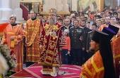 Митрополит Астанайский и Казахстанский Александр в праздник Пасхи Христовой возглавил торжественное богослужение в Вознесенском кафедральном соборе Алма-Аты
