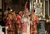 В праздник Светлого Христова Воскресения митрополит Киевский Онуфрий совершил Пасхальные богослужения в Киево-Печерской лавре