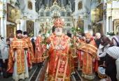 Патриарший экзарх всея Беларуси возглавил Пасхальные богослужения в Свято-Духовом кафедральном соборе Минска