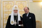 Предстоятель Русской Церкви встретился с председателем Общества бывших узников концлагеря Маутхаузен