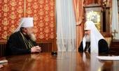 Поздравление Святейшего Патриарха Кирилла Блаженнейшему Митрополиту Варшавскому Савве с 80-летием со дня рождения