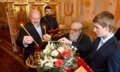 Президент Республики Беларусь встретился с почетным Патриаршим экзархом всея Беларуси