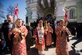 В Светлый понедельник Предстоятель Украинской Православной Церкви совершил Литургию в Покровском монастыре Киева