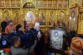 Дар Президента Казахстана — Тихвинская икона Пресвятой Богородицы — передана для постоянного пребывания во Владимирский храм Алма-Аты
