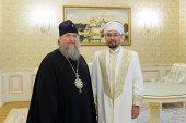 В духовно-культурном центре Митрополичьего округа в Алма-Ате состоялась встреча главы Округа с председателем Духовного управления мусульман Казахстана