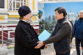 Аким Алма-Аты Б.К. Байбек ознакомился с ходом реставрационных работ Вознесенского кафедрального собора