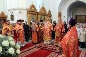 Патриарший экзарх всея Беларуси возглавил Литургию в Спасо-Евфросиниевском ставропигиальном женском монастыре Полоцка