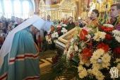 Митрополит Киевский Онуфрий совершил Литургию в Банченском монастыре и посетил детские учреждения при обители