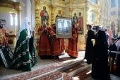 Проповедь Святейшего Патриарха Кирилла в Неделю апостола Фомы после Литургии в Крестовоздвиженском Иерусалимском монастыре