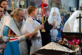Блаженнейший митрополит Онуфрий совершил отпевание настоятельницы Флоровского монастыря в Киеве игумении Антонии