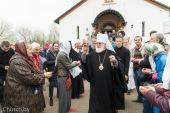 В праздник Радоницы Патриарший экзарх всея Беларуси совершил Литургию и панихиду в Лазаревском храме на Северном кладбище Минска