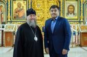 Состоялась встреча главы Митрополичьего округа в Казахстане и министра по делам религий и гражданского общества Республики Казахстан