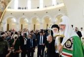 Предстоятель Русской Православной Церкви совершил молебен в кафедральном соборе Воскресения Христова в Тиране