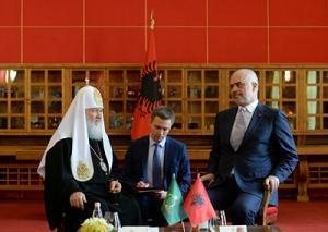 Предстоятель Русской Православной Церкви встретился с Премьер-министром Республики Албания Эди Рамой