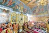 В Неделю 5-ю по Пасхе в Иверско-Серафимовском монастыре в Алма-Ате состоялась Литургия с участием всех архипастырей Казахстана