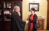 Митрополит Киевский Онуфрий встретился с послом США на Украине Мари Йованович