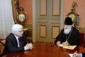 Состоялась встреча Святейшего Патриарха Кирилла с новоназначенным Послом России в Азербайджане М.Н. Бочарниковым
