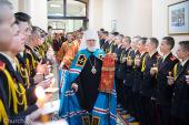 Патриарший экзарх всея Беларуси совершил Литургию в Минском Суворовском военном училище