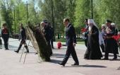 Митрополит Крутицкий Ювеналий принял участие в церемонии возложения венков от Московской области к могиле Неизвестного солдата