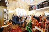 Святейший Патриарх Кирилл совершил освящение храма Всех святых, в земле Санкт-Петербургской просиявших, на Левашовском мемориальном кладбище