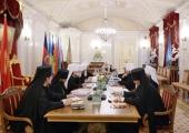 Святейший Патриарх Кирилл возглавил заседание Священного Синода в Санкт-Петербурге