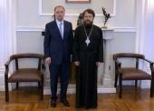 В Санкт-Петербурге состоялась встреча митрополита Волоколамского Илариона с ректором СПбГУ Н.М. Кропачевым