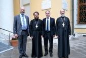 Митрополит Волоколамский Иларион встретился с послом Греции в России