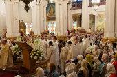В праздник Вознесения Господня престольный день отметили в кафедральном соборе Алма-Аты