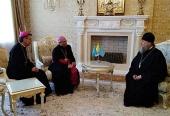 В Алма-Ате состоялась встреча митрополита Астанайского Александра с послом Ватикана в Казахстане