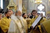 В день памяти святителя Николая Чудотворца Святейший Патриарх Кирилл совершил Литургию в Николо-Угрешском ставропигиальном монастыре