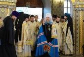 В день памяти святых равноапостольных Мефодия и Кирилла митрополит Астанайский Александр совершил Литургию в Христорождественском соборе Алма-Аты