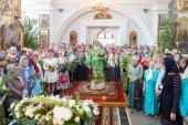 В праздник Пятидесятницы Патриарший экзарх всея Беларуси совершил Литургию в Свято-Духовом кафедральном соборе Минска