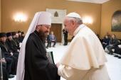 Делегация Русской Православной Церкви во главе с митрополитом Волоколамским Иларионом встретилась с Папой Римским Франциском