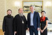 В Алма-Ате состоялась встреча митрополита Астанайского и Казахстанского Александра с председателем Фонда Мира Республики Казахстан