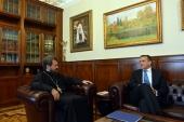 Митрополит Волоколамский Иларион встретился с послом Словении в России