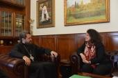 Состоялась встреча митрополита Волоколамского Илариона с послом Франции в России