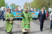 Традиционный крестный ход вдоль российско-казахстанской границы прошел в Карасукской епархии