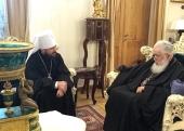 Митрополит Волоколамский Иларион встретился с Предстоятелем Грузинской Православной Церкви