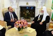 Состоялась встреча Святейшего Патриарха Кирилла с Чрезвычайным и Полномочным послом Иордании в России