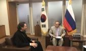Управляющий приходами Московского Патриархата в странах Восточной и Юго-Восточной Азии встретился с послом Южной Кореи в России
