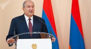 Поздравление Святейшего Патриарха Кирилла Президенту Республики Армения А.В. Саркисяну с 65-летием со дня рождения