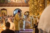 В Неделю 2-ю по Пятидесятнице Блаженнейший митрополит Киевский Онуфрий возглавил Литургию в Киево-Печерской лавре