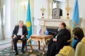 Митрополит Астанайский Александр встретился с послом России в Казахстане А.Н. Бородавкиным