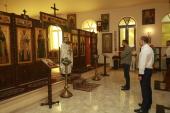 В Неделю Всех святых, в земле Русской просиявших, в храме при Представительстве Русской Православной Церкви в Дамаске совершена Литургия