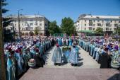 Духовенство трех епархий участвовало в торжествах в честь Луганской иконы Богородицы