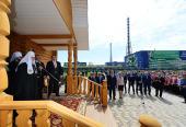 Святейший Патриарх Кирилл посетил храм великомученицы Варвары в Череповце