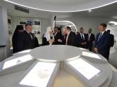 Святейший Патриарх Кирилл посетил интерактивно-познавательный центр Зеленая планета в Череповце